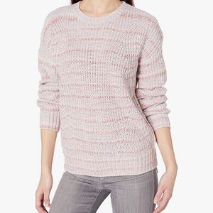 Lucky Brand Pink Striped Knit Sweater